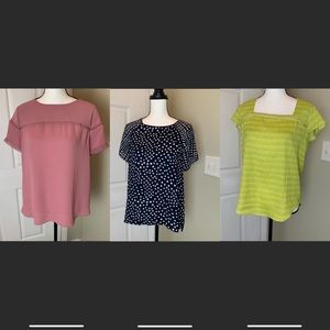 3 for $30! 2 LOFT & 1 Ann Taylor blouses